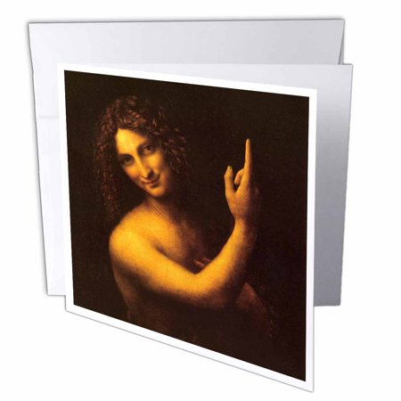 3dRose St. John the Baptist by Leonardo da Vinci 1509, Greeting Cards,...