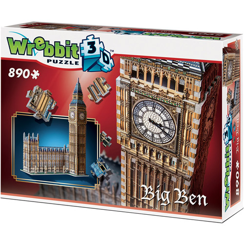 Big Ben 3D Puzzle: 890 Pieces by Wrebbit