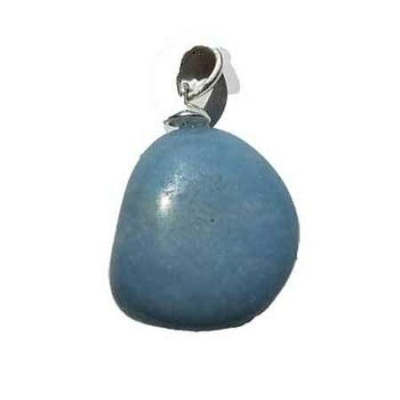 Raven Blackwood Imports Angelite Blue Tumbled Stone Heighten Your Spiritual Awareness Medium Pendant
