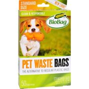 BioBag Pet Waste Bags, Standard, 50 Ct