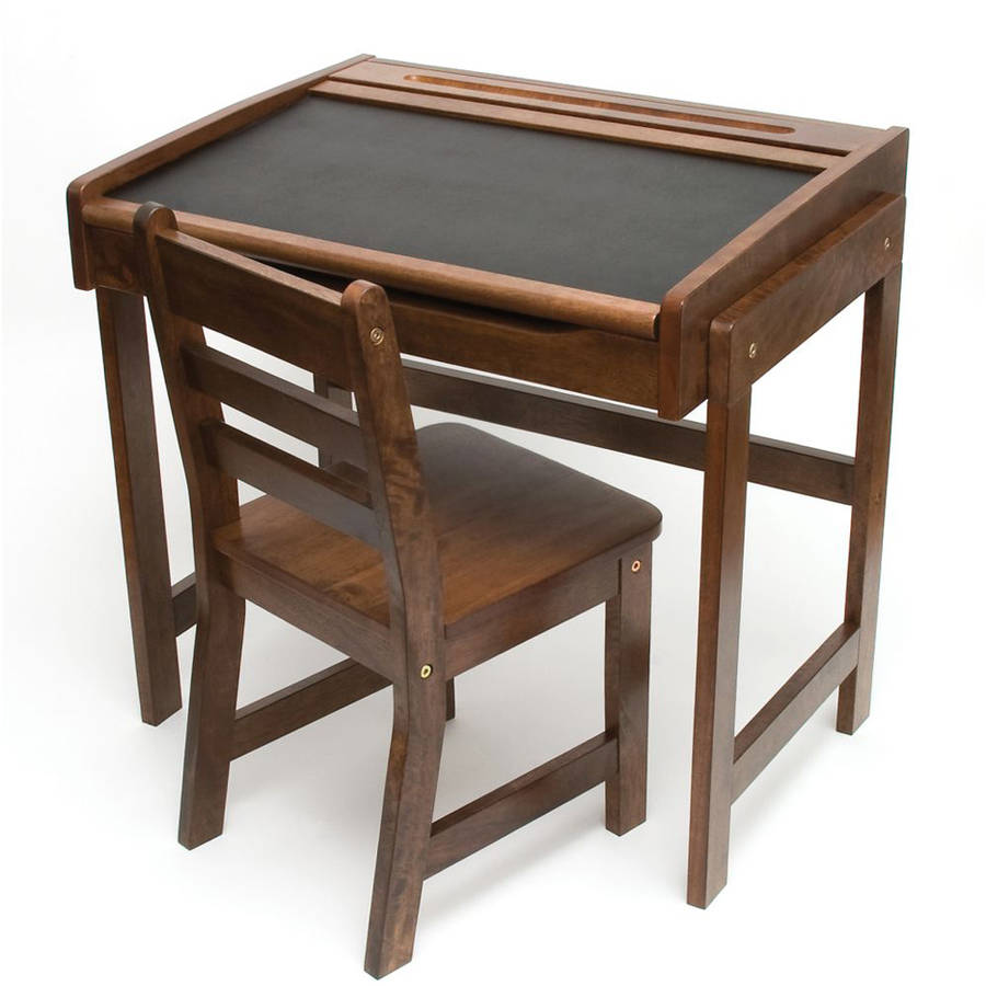 Child's Chalkboard Desk and Chair 2-Piece Set