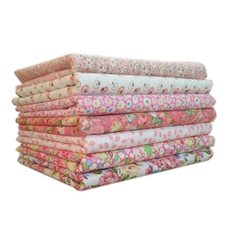 7pcs/set Cotton Fabric For Sewing Quilting Patchwork Home Textile Pink Series Tilda Doll Body Cloth