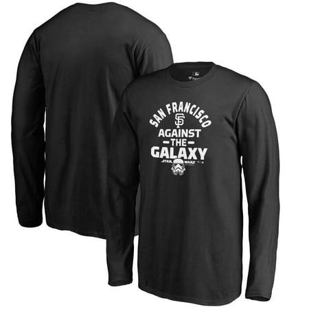 San Francisco Giants Fanatics Branded Youth MLB Star Wars Against The Galaxy Long Sleeve T-Shirt - Black
