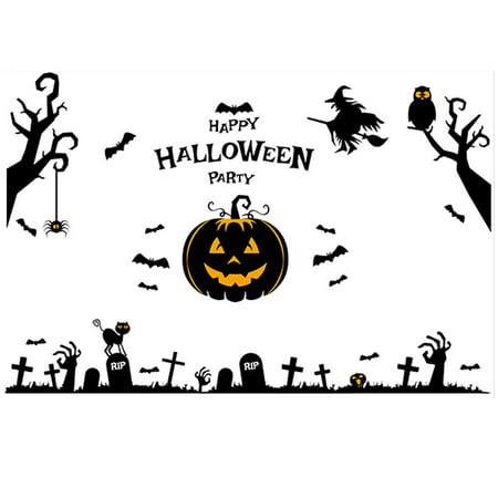 PVC Pumpkin Cross Pattern Self-adhesive Halloween Decor Wall Sticker - Patterns Pumpkin Halloween