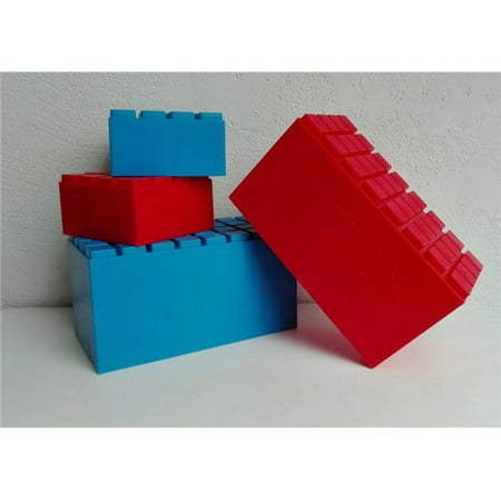 American Educational Products DT-6991 Building Blocks, Red & Blue - Set of 26