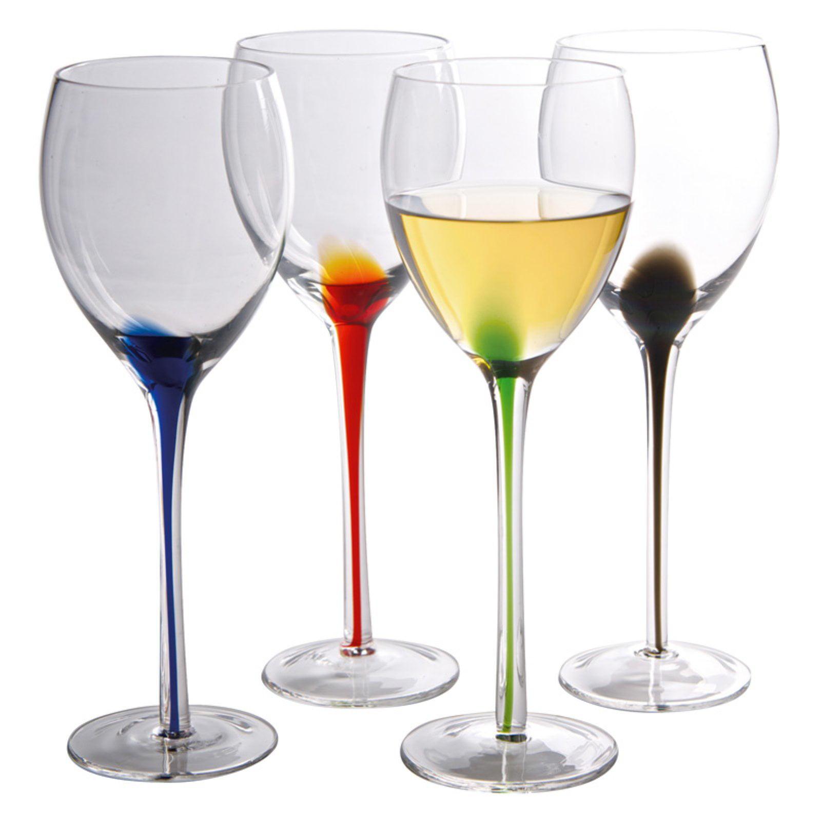9.5-Oz. Luigi Bormioli Set of 4 Romantica Stemmed Wine Glasses