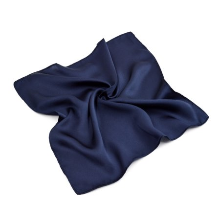 Premium 100% Pure Silk Solid Pocket Square Handkerchief Scarf 13.5