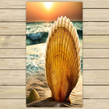 ZKGK Sunset Sea Beach Seashell Hand Towel Bath Towels Beach Towel For Home Outdoor Travel Use Size 30x56 Inches