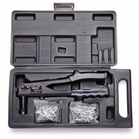 Arrow RL100K Rivet Tool Kit, 1/8 in, 3/16 in, Spring Loaded Hi-Viz Non-Slip Grip, Vinyl Handle