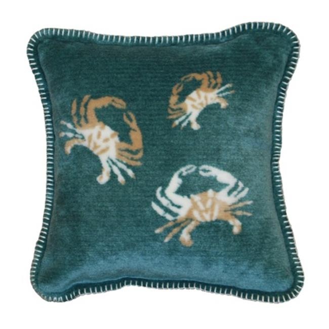 Denali Home Collection 35017818A Light Marine Crab Cluster Microplush Pillow