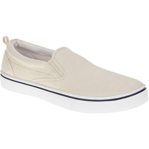 Faded Glory Mens Canvas Twin Gore Slip-On Shoe