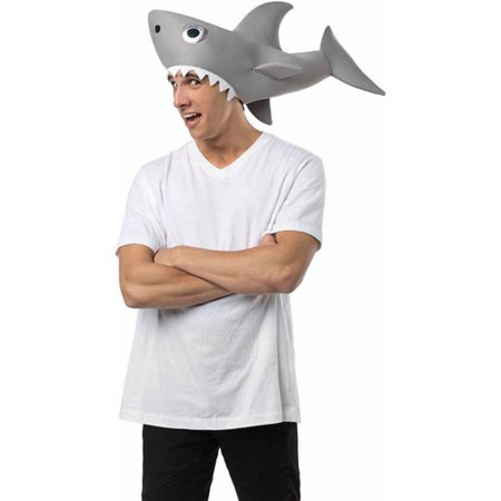 Cat In The Hat Halloween Sayings (Sharknado Man Eating Shark Hat Adult Halloween)