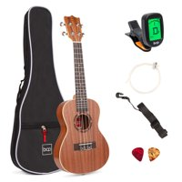 Best Choice Products Acoustic Concert Ukulele Starter Kit, 23 inch Sapele Wood Ukulele w/ Gig Bag, Strap, Tuner, Strings & Picks