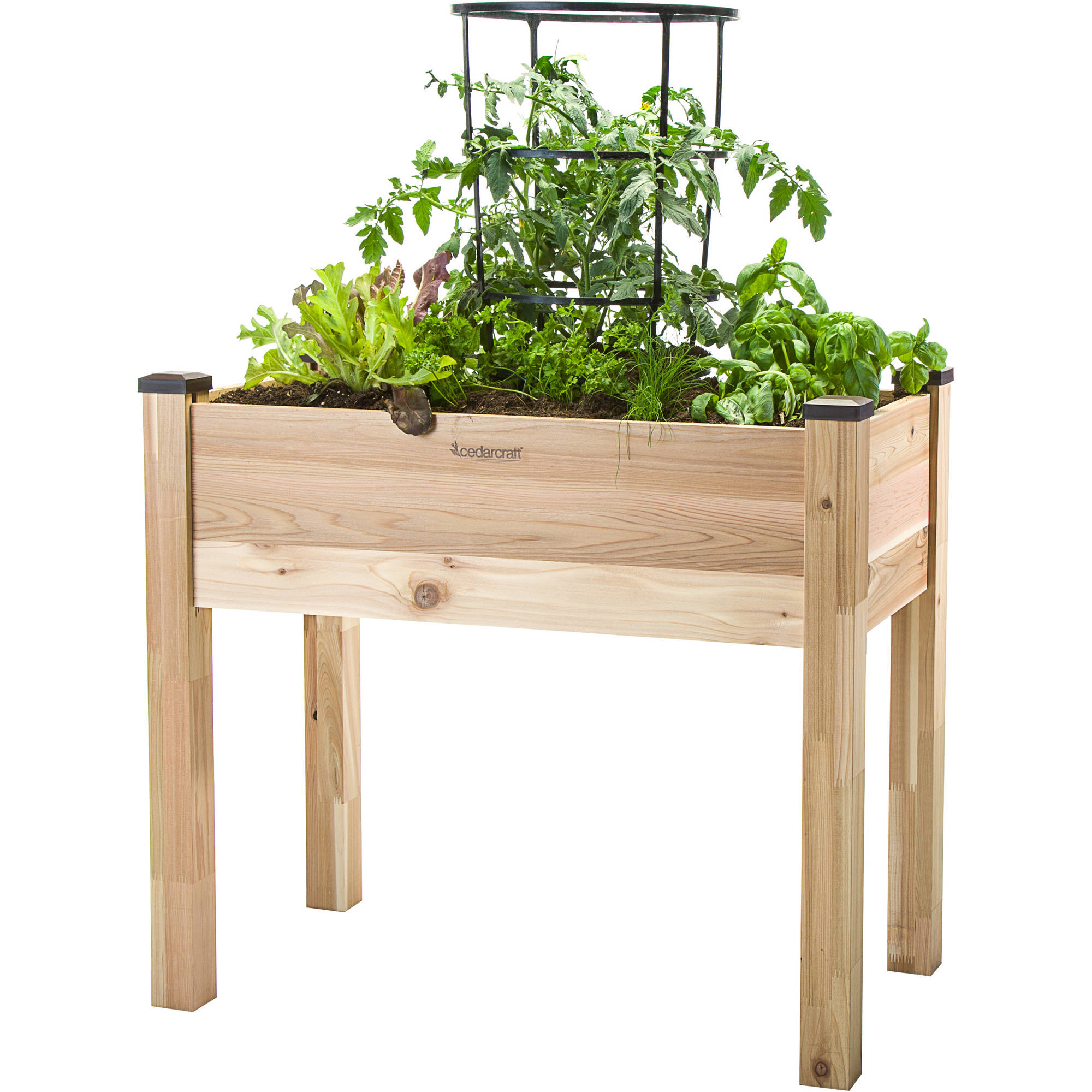 "CedarCraft 18"" x 34"" Elevate Planter by Dobi and Associates"
