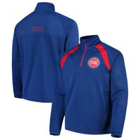 Detroit Pistons G-III Sports by Carl Banks High Impact Quarter-Zip Pullover Jacket - Royal