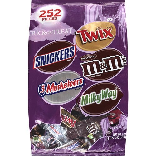 Mars Halloween Chocolate Assorted Chocolate Trick-Or-Treat Mix, 101.9 oz