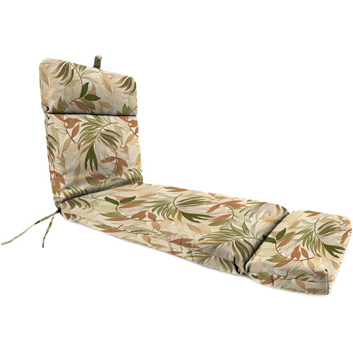 Jordan Manufacturing Outdoor Patio Replacement Chaise Lounge Cushion, Oasis  Nutmeg