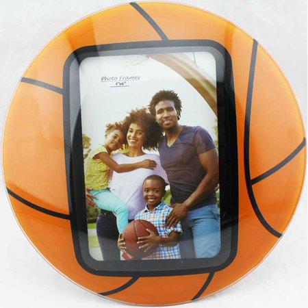 Glass Curved Basketball Picture Frames 4 X 6 Multicolortabletop