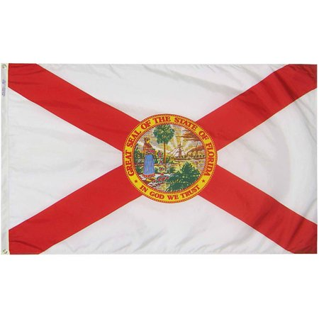 Florida State Flag  3 X 5  Nylon Solarguard Nyl Glo  Model  140960