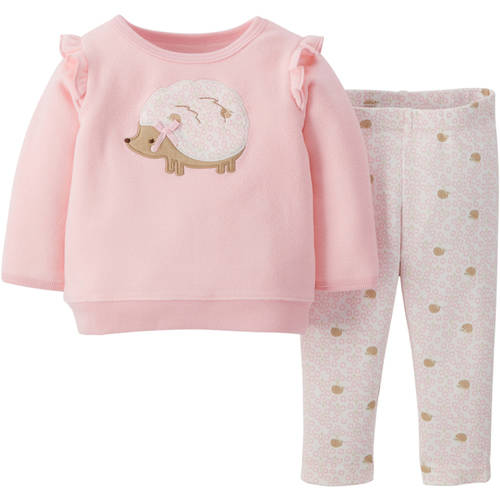 Child Of Mine by Carter's Newborn Baby Girl Top and Leggings Outfit Set