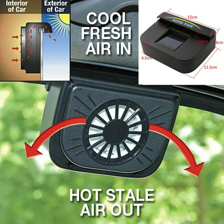 Auto Solar Powered Car Window Windshield Auto Air Vent Cooling Fan System Cooler