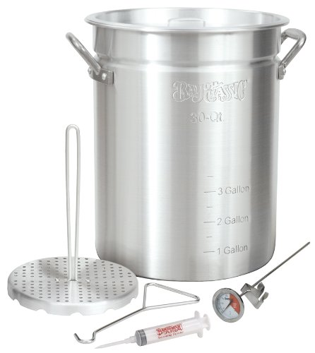Bayou Classic 30-qt. Turkey Fryer - 7.50 Gal Turkey Fryer, Lid - Aluminum (3025_2)