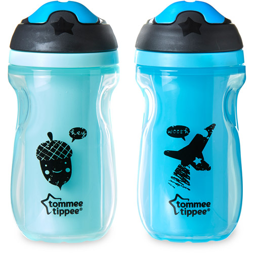 Tommee Tippee Insulated Sipper, BPA-Free, 2-Pack, Boy