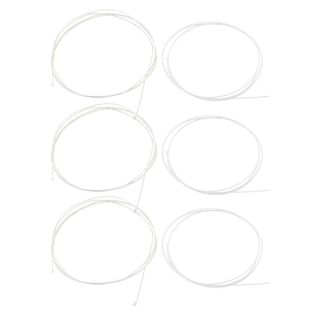 6 Pcs 219 Type Musical Clear Nylon Strings Lines for Guitar by Unique-Bargains