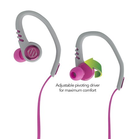 - SCOSCHE SportFlex 3 Running Earbuds with TapIt Remote and Microphone - Splashproof and Dustproof IPX4 Rated Exercise Headphones with Multiple Size Silicone Ear Bud Inserts - Pink (HPSC3TIPK)