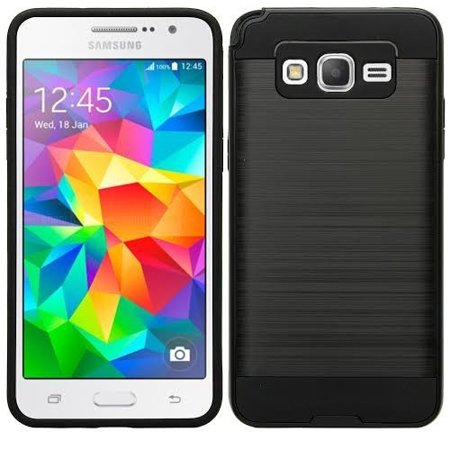 Galaxy S4 Case, Slim Hybrid Dual Layered [Shock Resistant] Case Cover for Samsung Galaxy S4 - Brush