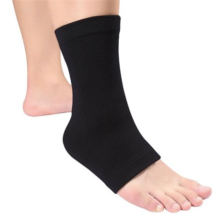 (2 Pack) Elastic Ankle Brace Strap, Foot Care Ankle Support Pad, Breathable Adjustable Ankle Wrap for Sport Sprain, Pain Relief Cushion for Plantar Fasciitis, Stress Fracture, Edema, Heel Spurs Pain
