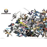 """Overwatch Cover Wall Poster 22.375"""" x 34"""""""