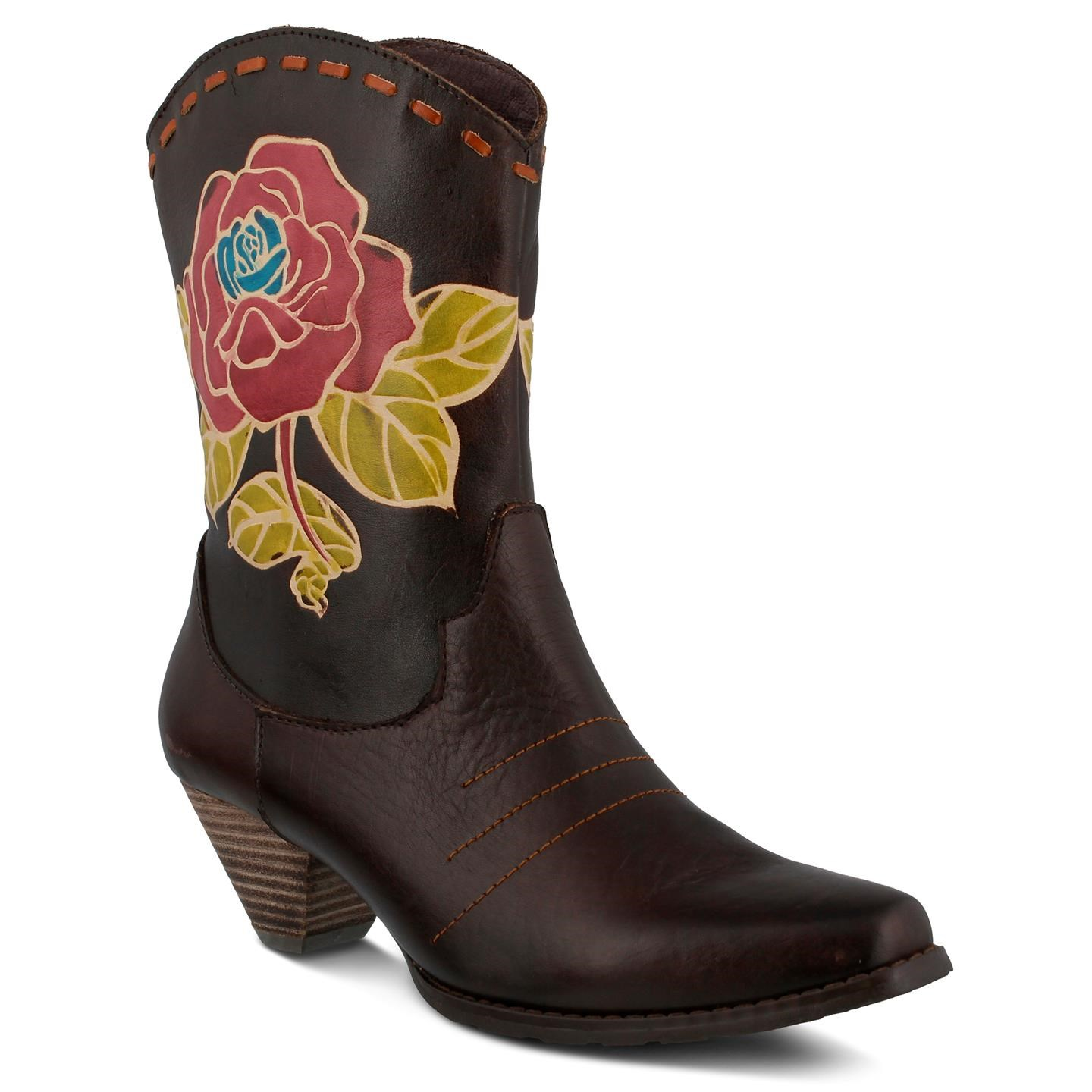 L'Artiste Aster By Spring Step Brown Leather Boots 38 EU   8 US Women by Spring Step