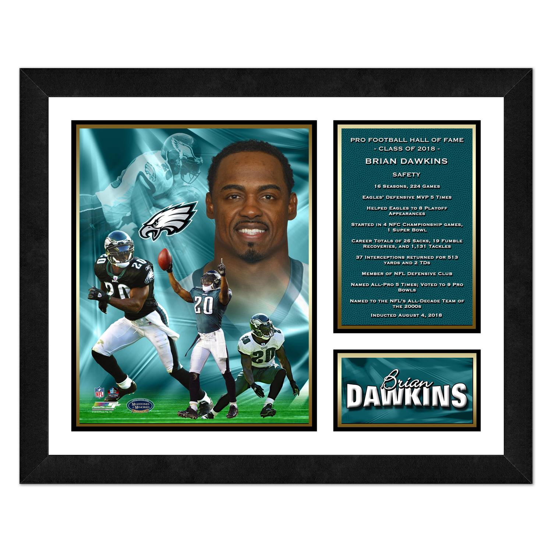 "Brian Dawkins Philadelphia Eagles 2018 Pro Football Hall of Fame Induction 13"" x 16"" Player Milestones & Memories Framed Photo - No Size"