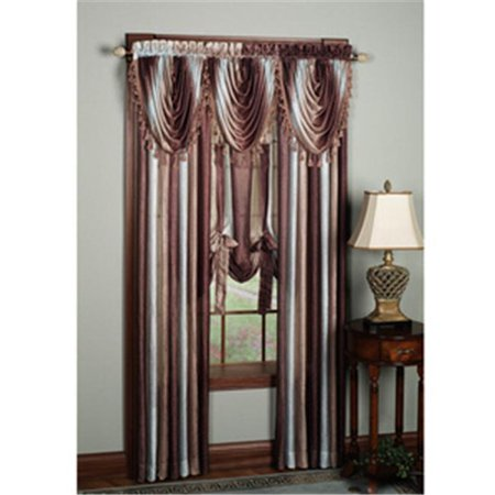 Ombre Waterfall Valance - Chocolate Blue