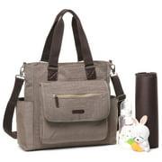 Colorland Multipurpose Tote/Messenger Diaper Bag, Khaki
