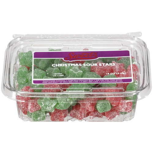 Sweet's Christmas Sour Stars Candy, 18 oz