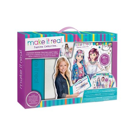Fashion Design Drawing And Coloring Mega Art Set W Light Tableuse The Included Light Box For Creative Tracing Or Create Your Very Own Designs By Make It Real Walmart Com