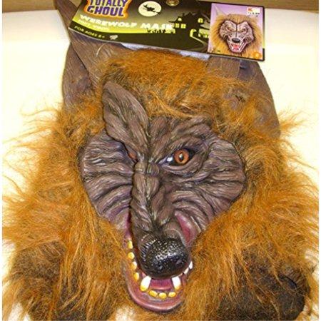 Kmart - Totally Ghoul Werewolf Mask Brown Fur Costume - Werewolf Fur