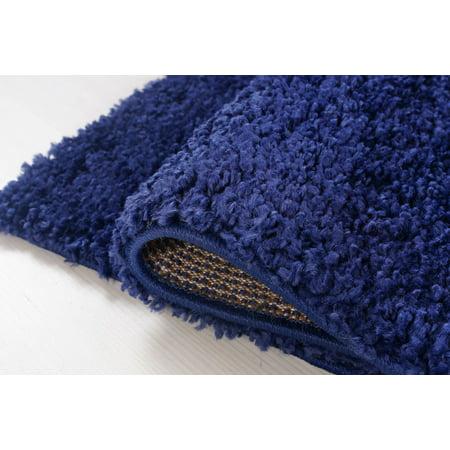 "Ladole Rugs Solid Color Shaggy Meknes Durable Beautiful Turkish Indoor Area Rug Carpet in Navy Blue 7'10"" x 10'5"" - image 2 de 4"