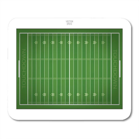 KDAGR Stadium Top Views of American Football Field Green Grass Pattern for Sport Down Mousepad Mouse Pad Mouse Mat 9x10