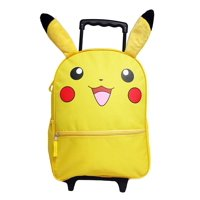 """Pokemon Pikachu 16"""" Large Rolling Backpack with Ears"""