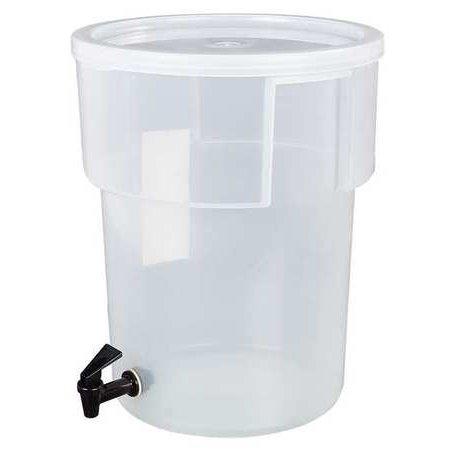 CARLISLE 220930 Beverage Dispenser,Round,5 Gal,Black