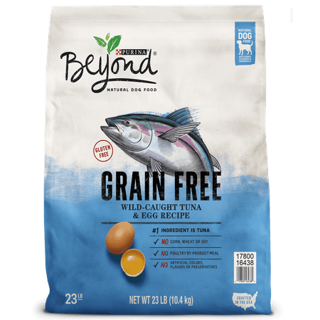 Purina Beyond Grain Free Wild-Caught Tuna & Egg Recipe Adult Dry Dog Food - 23 lb. Bag (Purina One Grain Free Dog Food)
