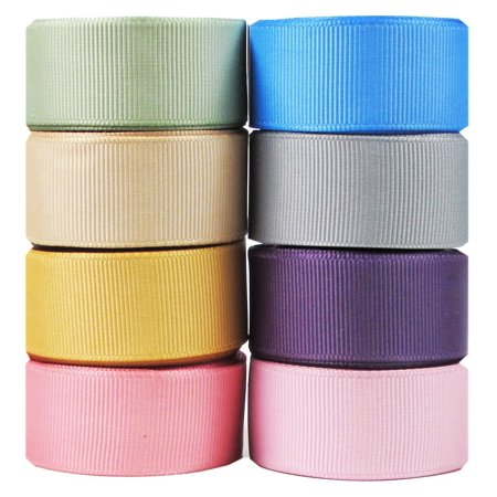 HipGirl Holiday Grosgrain Ribbon--40yd (8x5yd)  Color Collection, Color May Vary](Discount Ribbon)