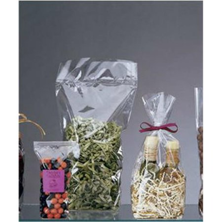 Bags & Bows by Deluxe 690-0613 Clear Hard Bottom Polypropylene Bags - Case of 100