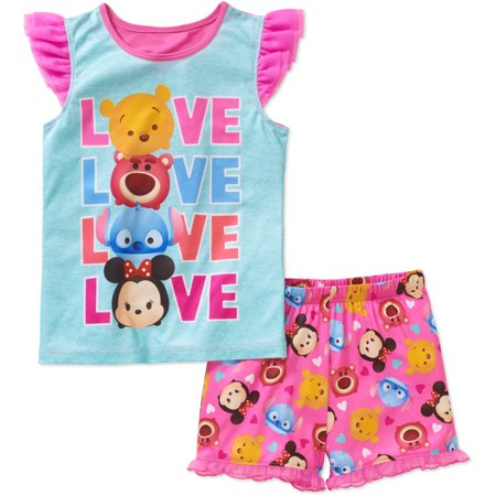 Girls' Tank and Short Sleep Set (The Little Mermaid Tsum Tsum)