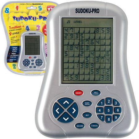Sudoku Touch Screen Handheld - Sudoku Pro Handheld Game, Grey