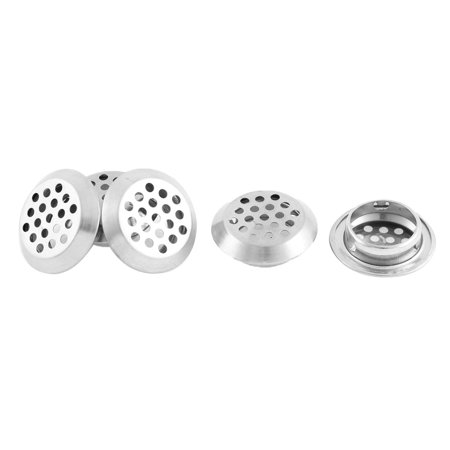 Unique Bargains 5 Pcs Stainless Steel Bathtub Waste Filter Drain Stopper 34mm Head Dia Sink Strainer