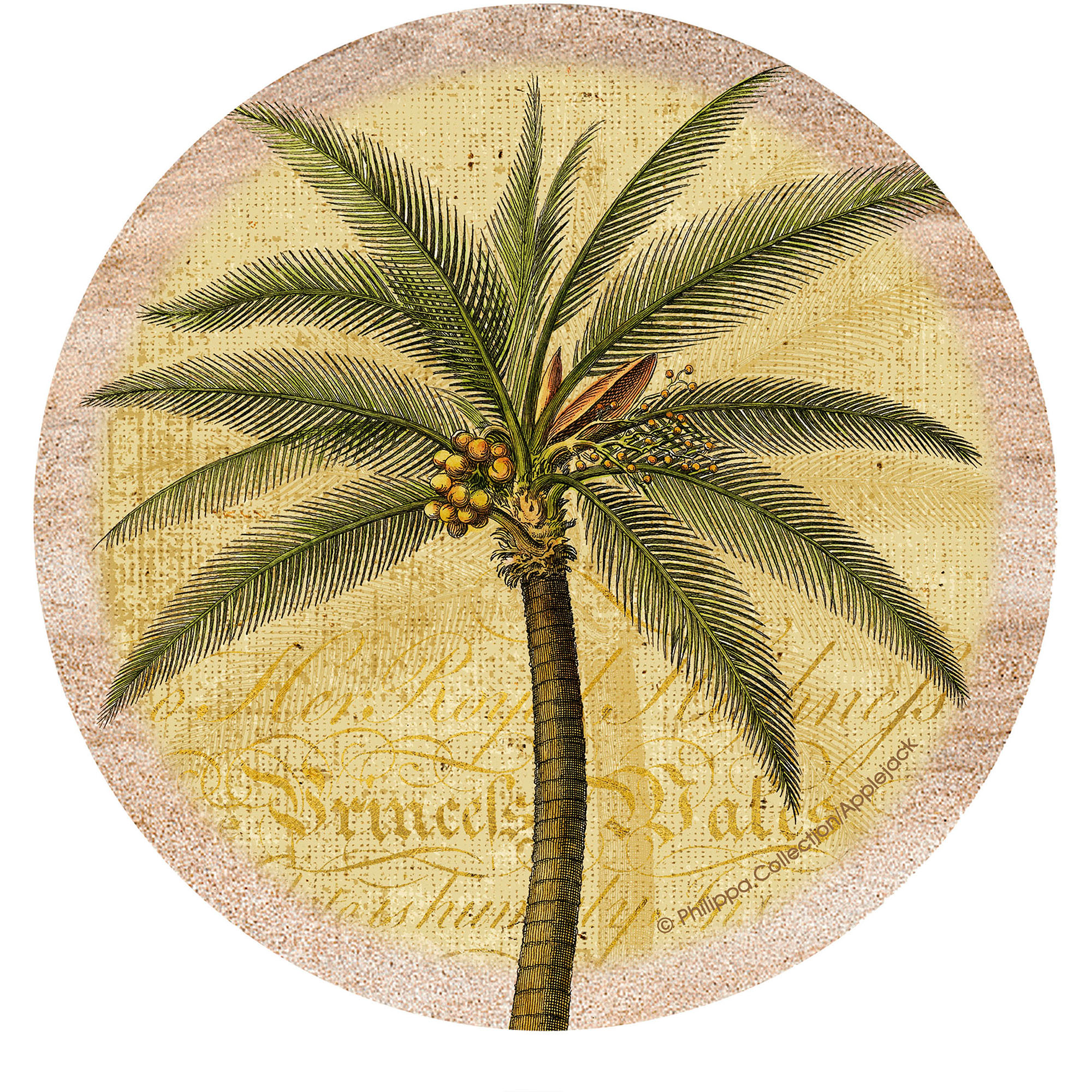 Thirstystone Drink Coasters Set, Palm